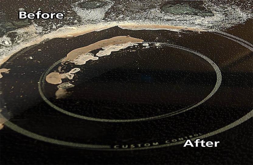 antes y despues de limpiar anafe